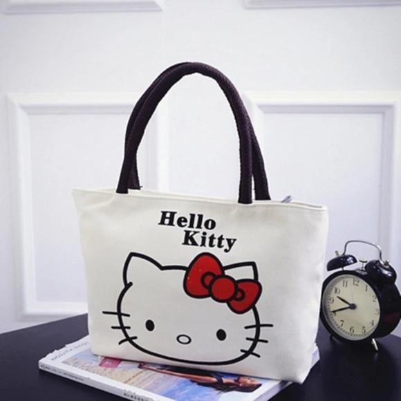 4e581408640c Canvas Hello Kitty Tote Bag
