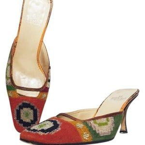 Fendi embellished beaded pumps