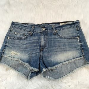 Rag & Bone Distressed Denim Jean Shorts Chesapeake