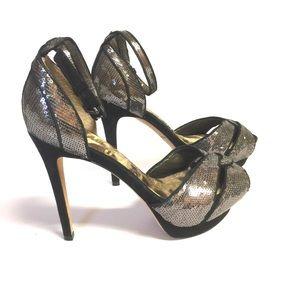 Sam Edelman Paisley Silver Sequin High Heel Shoe