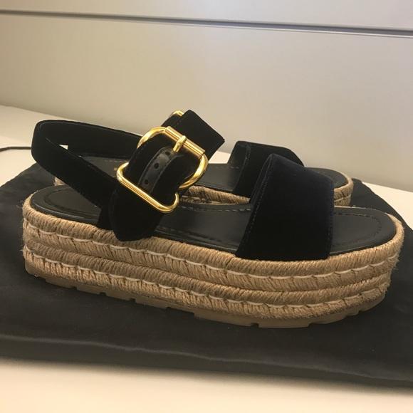 75aa9fa84268 Prada platform Velvet espadrilles sandals. M 59b7e084f0137d0cab009447
