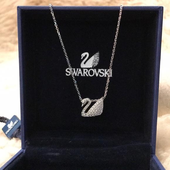 576c9385dd772 Swarovski Jewelry | Swan Necklace | Poshmark