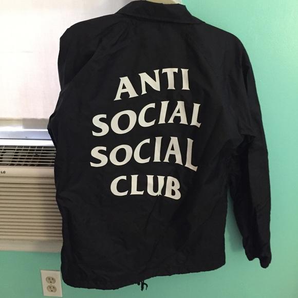 best loved 15d2a 1025d Anti Social Social Club Jackets   Blazers - AUTHENTIC Anti Social Social  Club Windbreaker