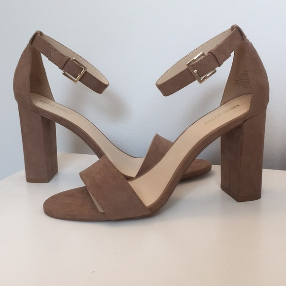 entire collection shop best sellers new appearance Nine West Nora - Tan Suede open toe heel