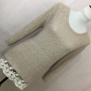 Style & Co Cozy Sweater with Lace Detail XL