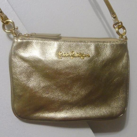 Lilly Pulitzer Handbags - Gold metallic leather crossbody bag fe305a8c1b256