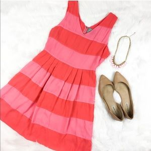 Skies Are Blue Two Tone Pink Striped Dress