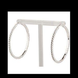 Jewelry - Perlee silver bead hoop earrings vca