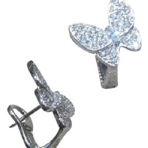 Jewelry - butterfly cz silver earrings