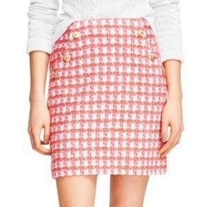 Brooks Brothers Orange and Pink Tweed Pencil Skirt