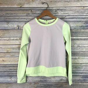 Lululemon Lime Green & Grey Long Sleeve Tee