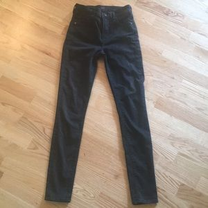 Rocket High Rise Skinny Jeans ~25 Black Dahlia