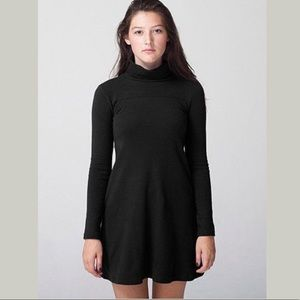 Long sleeved turtleneck shift dress