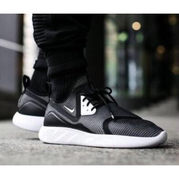 6725183194937a Women s Nike LunarCharge Breathe Black Sneakers