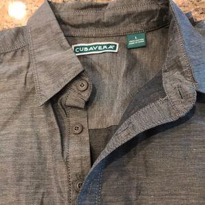 Mens dressy shirt sleeve shirt