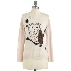 Yumi ModCloth Owl Angora Wool Sweater