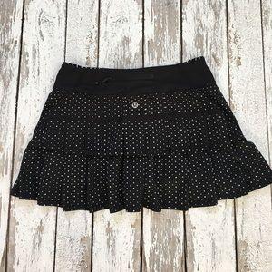 Lululemon polka dot Pace Setter skirt