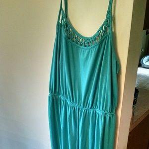 Teal blue maxi dress 3x