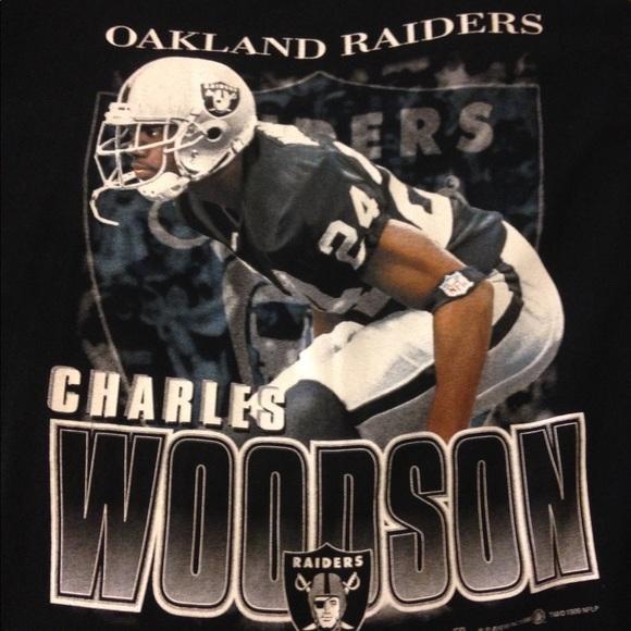 super popular fb76e 19573 Vintage 90's Charles Woodson Oakland Raiders shirt