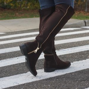 Brown Suede Over The Knee Boots!