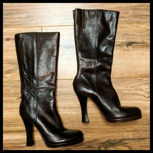 SALE!!Steven, by S.Madden- Brown Leather Boots
