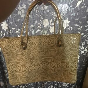 Handbags - italian snake skin leather bag