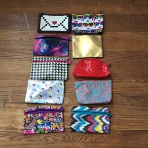 Bundle of 10 Ipsy makeup bags