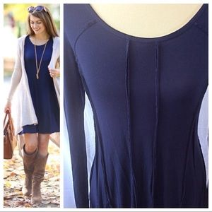 Dresses & Skirts - Premise Navy Jersey Knit Swing Dress