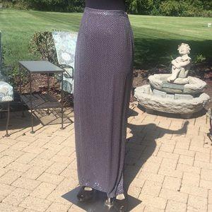 Lavender iridescent sequin maxi skirt sz 4 6 Sm 💜