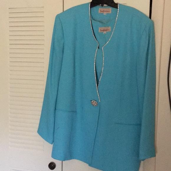 Other Womens Light Blue Dress Suit Size 20 Poshmark