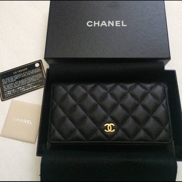 2be425449d5f CHANEL Handbags - Chanel Classic Quilted Caviar L-Yen Wallet