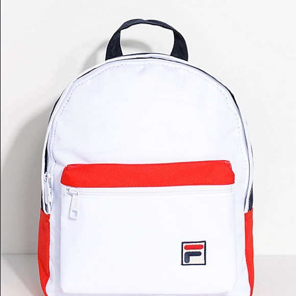 FILA white red black mini backpack