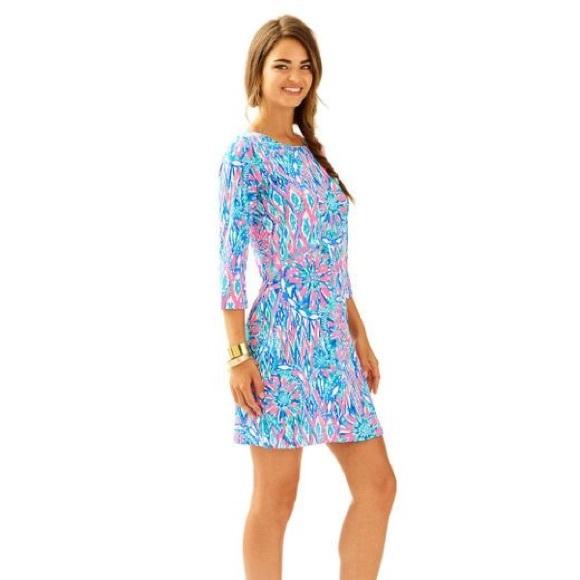 4fa52cffbd5 NWT Lilly Pulitzer Tiki Pink Shake it Up Bay Dress