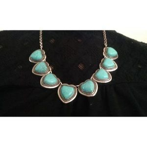 Jewelry - Turquoise and Tibetan Silver Necklace