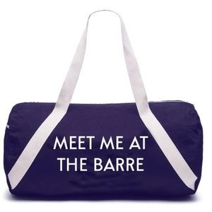 {privateparty} MEET ME AT THE BARRE Gymbag 