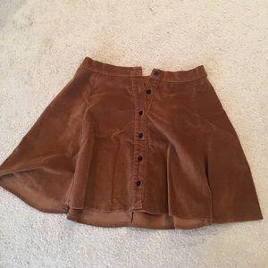 Brandy Melville corduroy tan skirt