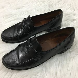 Allen Edmonds Black Leather Shoes Loafers 9 1/2 D