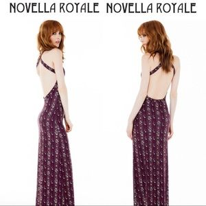 novella royale midnight rambler backless maxi