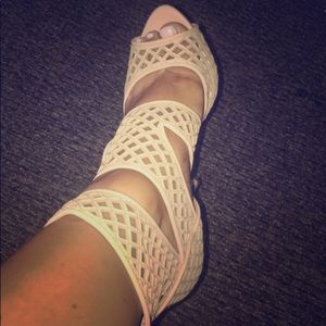 Miu Miu Laser Cut Caged Sandals