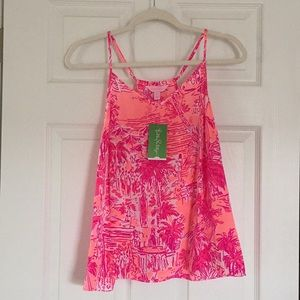 [Lilly Pulitzer] Racer Back Silk Tank Top. Size: M