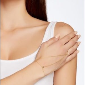 Gorjana Nesa Hand to Wrist Chain Bracelet w/ Ring