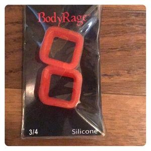 Red Silicone Square Tunnels Plugs