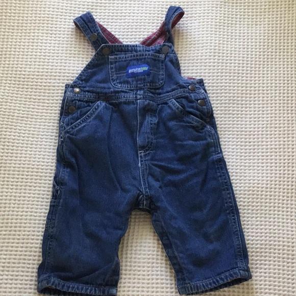 New OshKosh Boys Plaid Flannel Lined Corduroy Overalls NWT 12m 3T 4T Blue Soft