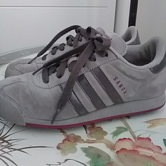 adidas originale samoa scarpa da tennis gray scamosciato donne poshmark