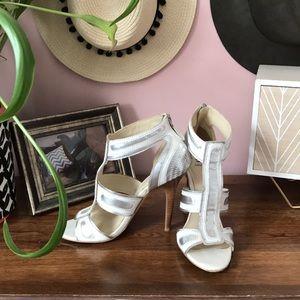 Bakers Silver Metallic Heels