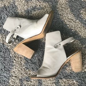 Ankle sling back mules