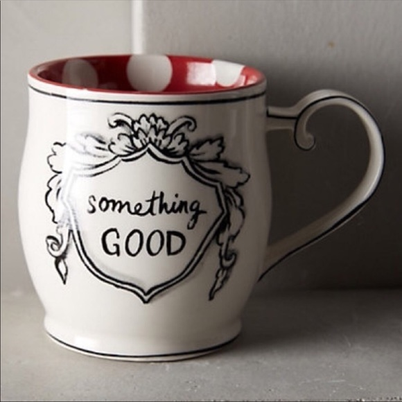 8fb898fa89 Anthropologie Other - Anthropologie Molly Hatch Something Good Mug