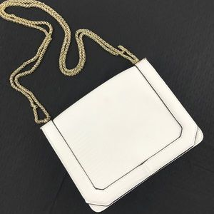 TOPSHOP Faux Embossed Leather Chain Handle Purse