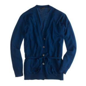 J CREW merino wool belted Cardigan sweater