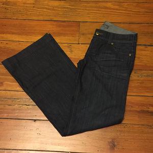 Anthropologie Level 99 Wide Leg Dark Wash Jeans